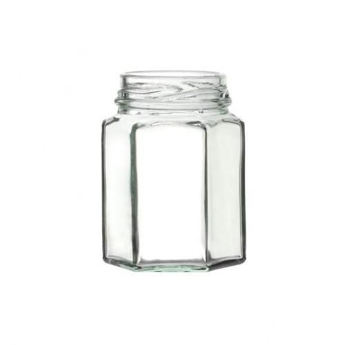 Hexagonal Glass Jar with Twist-off Lid 100ml