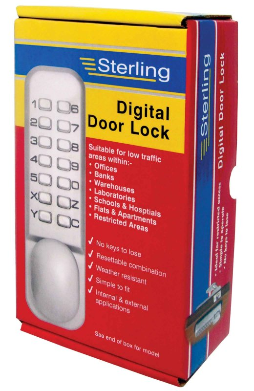 Sterling Standard Push Button Digital Door Locks Satin