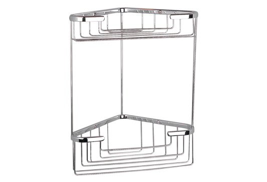 Miller Classic Large Two Tier Corner Basket Chrome