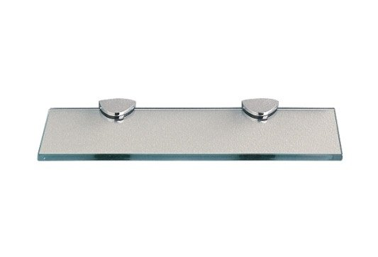 Miller Classic Glass Shelf 600mm with Chrome Brackets