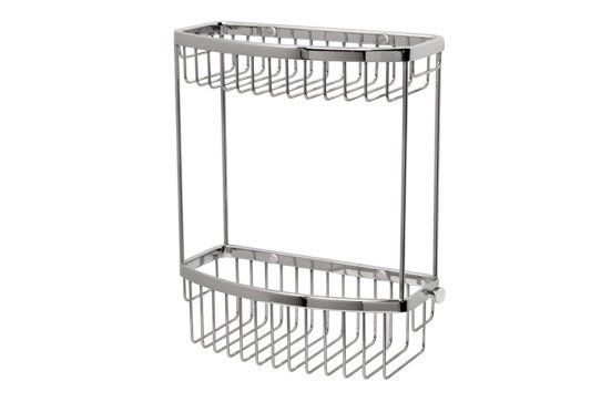 Miller Classic D Shaped Basket Two Tier Chrome