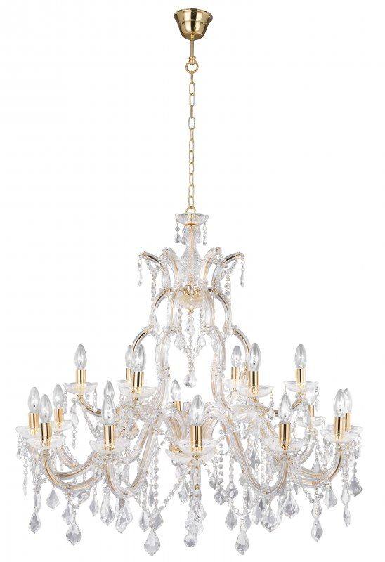 Details about Searchlight 30 Light Marie Therese Italian Style 3 Tier Crystal Glass Chandelier