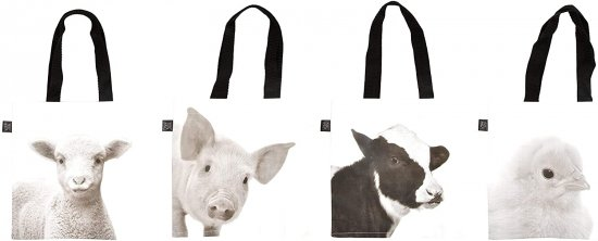Fallen Fruits Shopping Bag - Young Farm Animal Assorted (1Only)