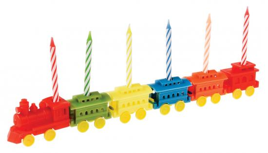Rex Party Train Candle Holder with 6 Candles