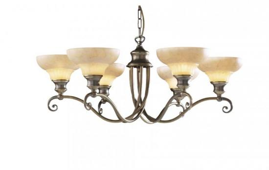 David Hunt Stratford 6 Light Aged Brass Pendant