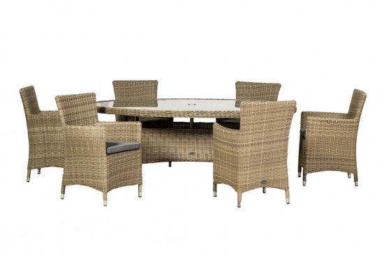 Royalcraft Wentworth 6 Seater Oval Carver Dining Set