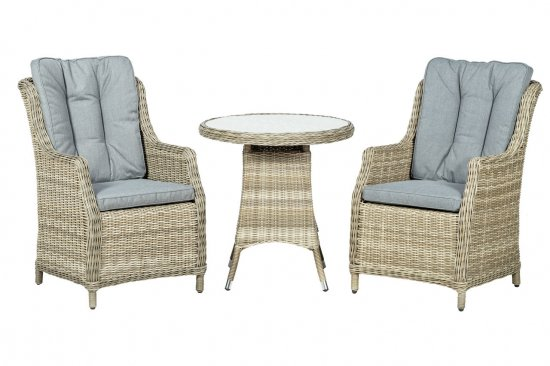 Royalcraft Wentworth 2 Seater Highback Comfort Round Bistro Set