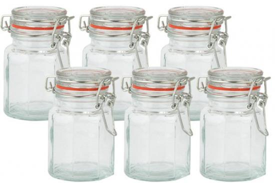 Apollo Housewares Glass Spice Jar Set of 6