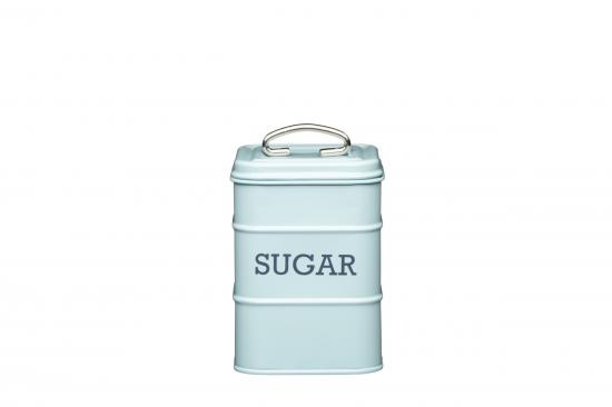 KitchenCraft Living Nostalgia Sugar Tin Vintage Blue
