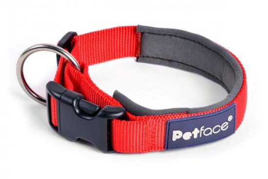 Petface Outdoor Paws Neoprene Trek Collar Red - Large
