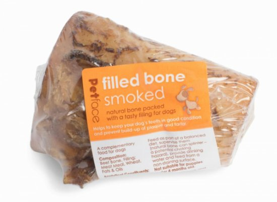 Petface Filled Bone - Smoked