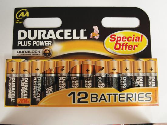 Duracell Plus Power Batteries - Aa Pack Of 12