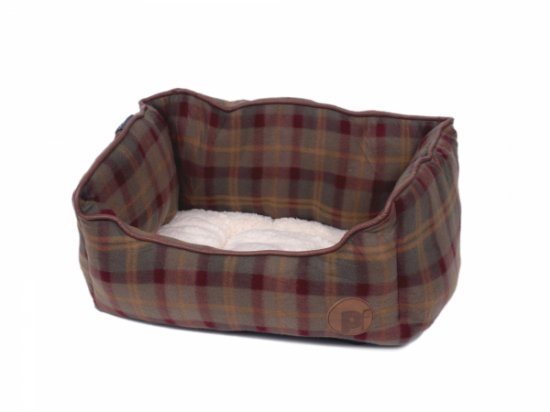 Petface Country Check Square Bed - Small