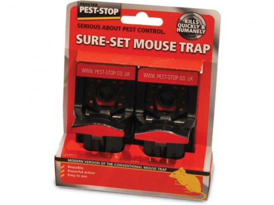 Pest-Stop Plastic Sure Set Mouse Trap - Pack of 2