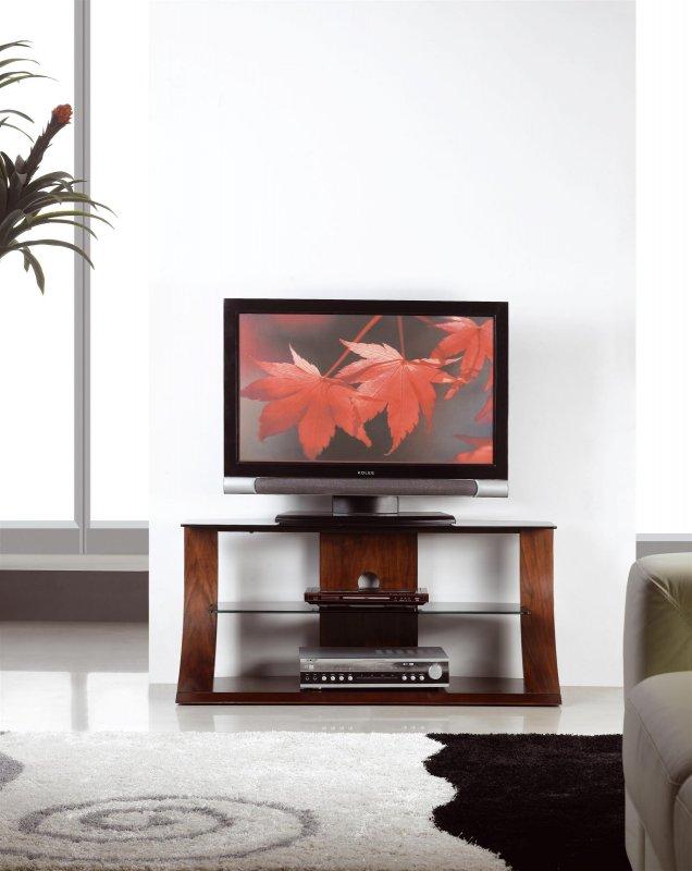Jual Florence Walnut Amp Black Glass 1100mm Curved Wood Tv
