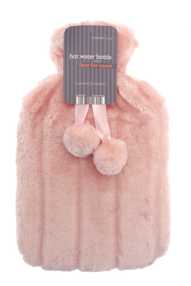 Country Club Hot Water Bottles With Luxury Faux Fur Cover Assorted Colours At Barnitts Online