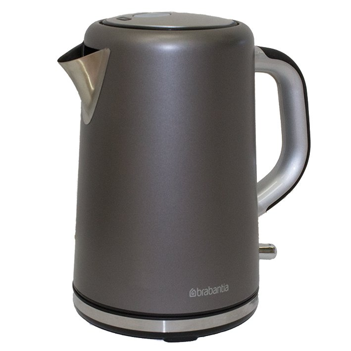 Brabantia 17 Litre Soft Grip Kettle Brushed Stainless