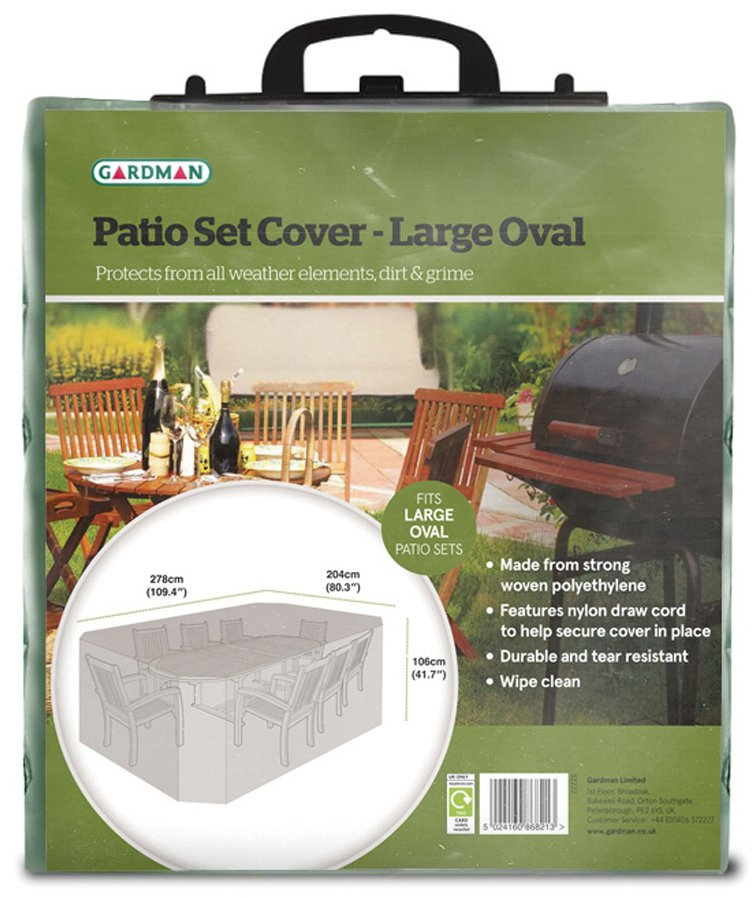 Large oval patio set cover green at barnitts online store for Oval patio set cover