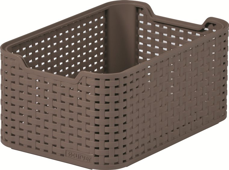 Curver Style Rattan Storage Box Small Brown At