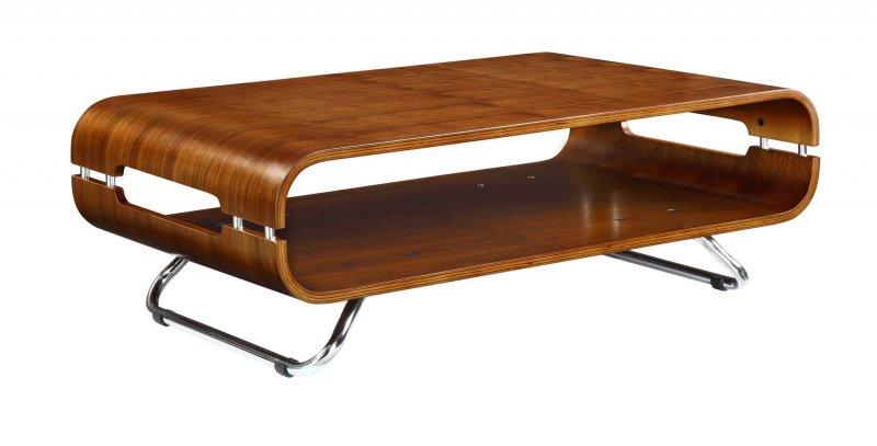Jual San Marino Walnut Curved Wood Coffee Table At