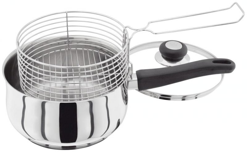 Judge vista stainless steel deep fryer chip pan with for Jj fish and chips