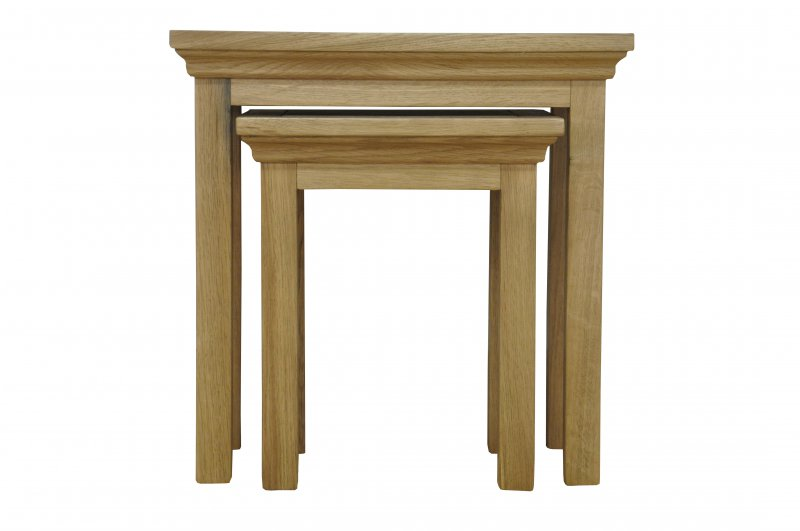 Newbury oak nest of 2 tables at barnitts online store uk for Furniture zone warwick