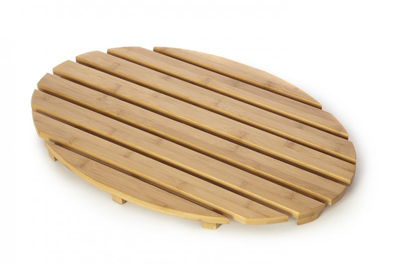 clearance bamboo wood wooden oval duckboard bathroom. Black Bedroom Furniture Sets. Home Design Ideas