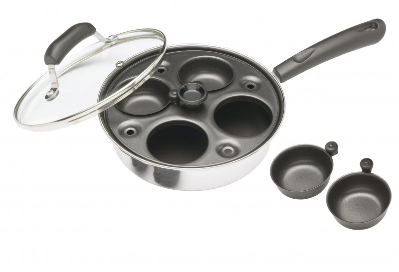 Kitchencraft Aluminium Coated Carbon Steel Four Hole Egg