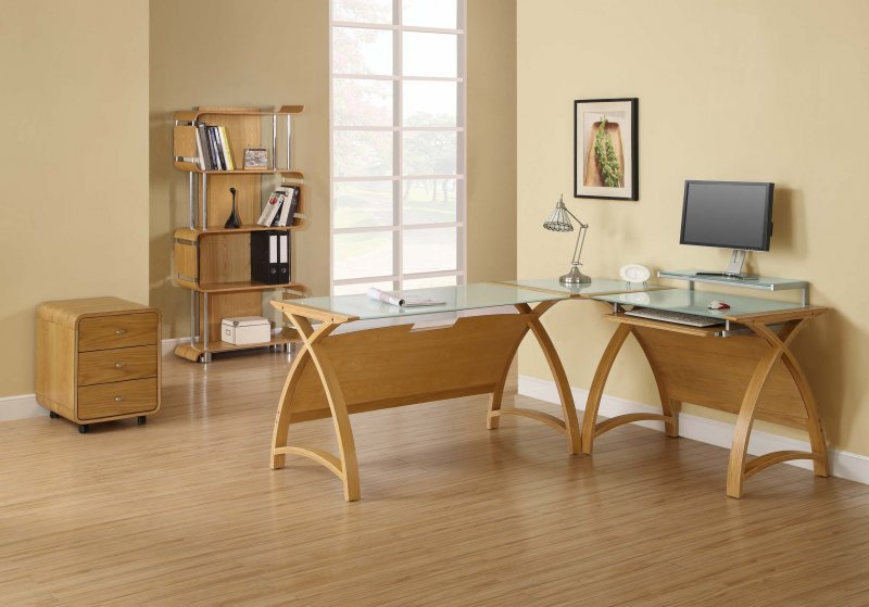 Jual Helsinki Curve Oak Amp White Glass Curved Wood 1300mm