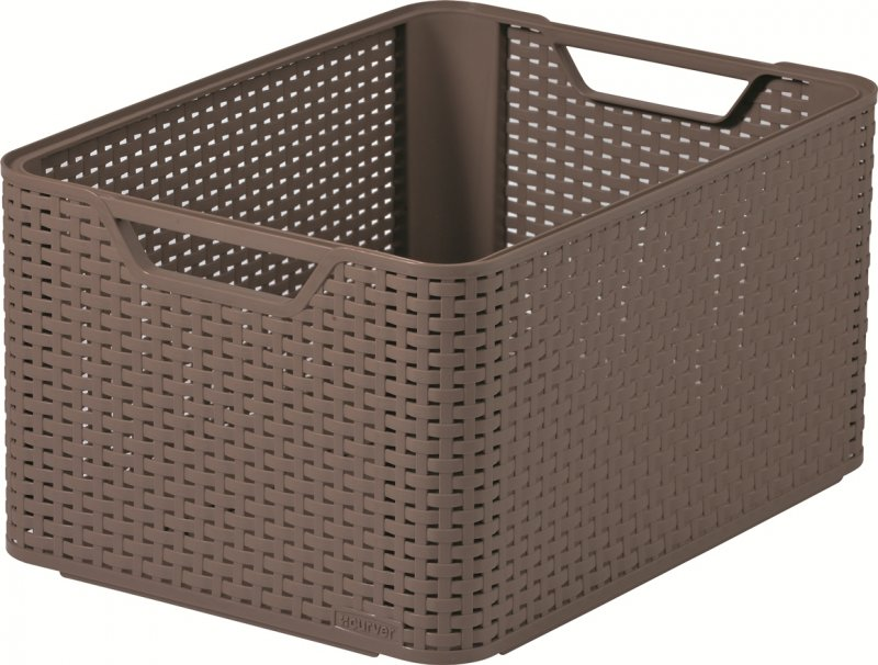 curver style rattan storage box large brown at barnitts online store uk. Black Bedroom Furniture Sets. Home Design Ideas
