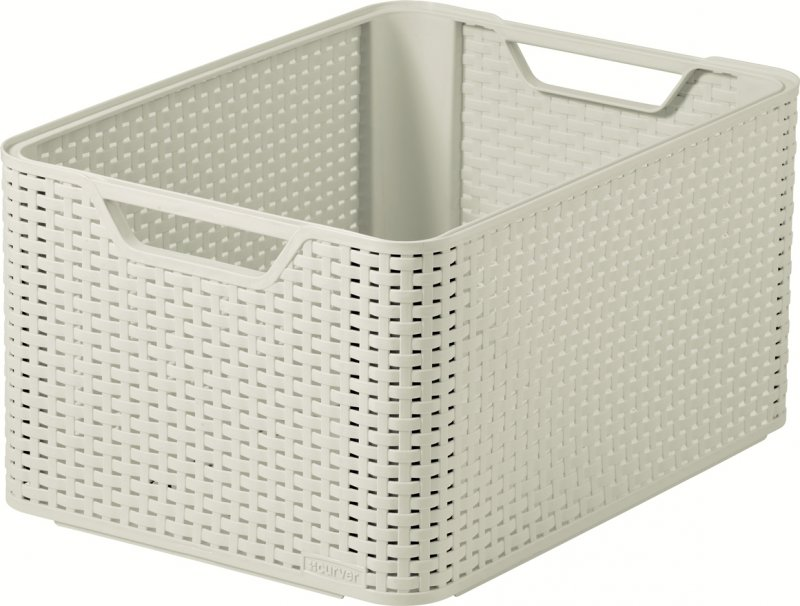 curver style rattan storage box large white at barnitts. Black Bedroom Furniture Sets. Home Design Ideas