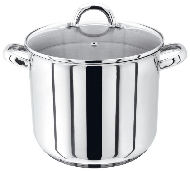 Judge Stainless Steel Stockpot With Vented Glass Lid 24cm