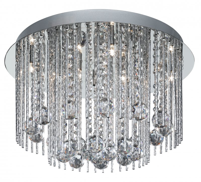 Searchlight Beatrix 8 Light Chrome Semi Flush Ceiling