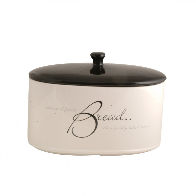 Price kensington script ceramic bread bin at barnitts for White ceramic bathroom bin