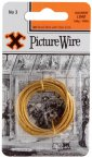 X 3m Brass Picture Wire No 2
