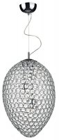 Dar Frost 3 Light Pendant Polished Chrome