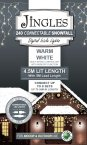 Jingles 240 Connectable LED Snowfall Icicle Lights - Warm White