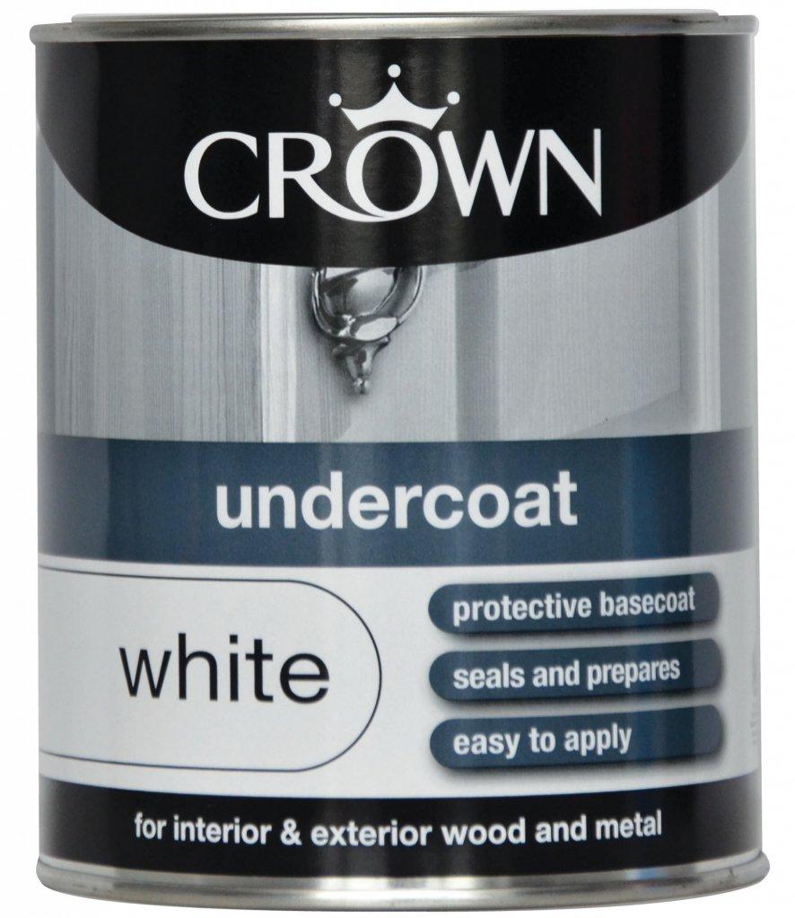 Crown Undercoat Pure Brilliant White 750ml At Barnitts