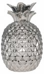 Pacific Lifestyle Pina Metallic Silver Pierced Ceramic Pineapple Table Lamp
