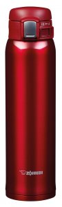 Zojirushi Stainless Steel Clear Non-Stick Vacuum Travel Mug Red 600ml