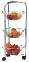 Apollo Housewares Chrome Veg Trolley 3 Tier