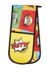 Kitchen Craft Comic Strip Double Oven Glove