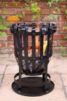 Gardeco Vulcan Traditional Garden Brazier inc BBQ Grill & Collection Plate