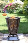 Gardeco Delphi Flower Brazier with Decorative Mesh inc BBQ Grill & Collection Plate