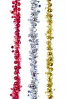 Premier Decorations Tinsel with Baubles & Stars 1.5M x 35mm - Assorted