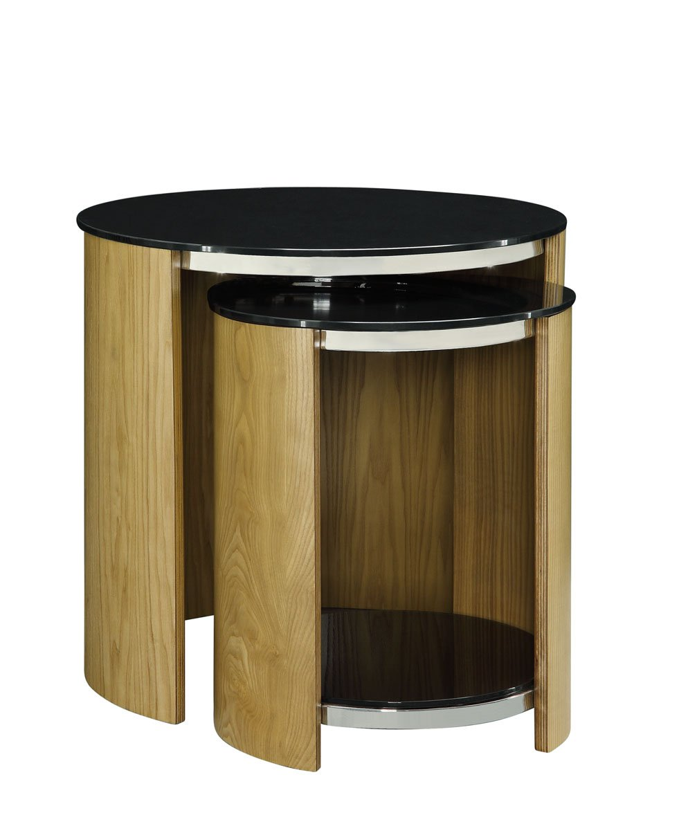 Jual San Marino Glass Nest Of Tables In Oak At Barnitts Online Store Uk Barnitts