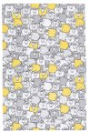 KitchenCraft Yellow Sheep Tea Towels Set of Two 70cm x 47cm